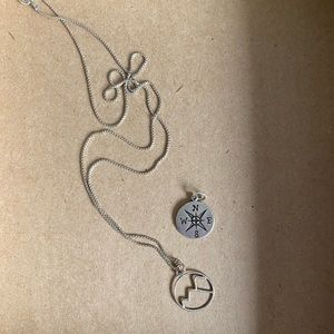 Jewelry - Sterling Wanderer Necklace & additional charm